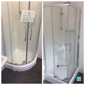 Shower cubicle replacement by One Handyman Sevenoaks.