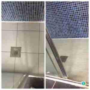 Walk in shower floor replacement.