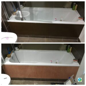 New handmade bath panel and painted.